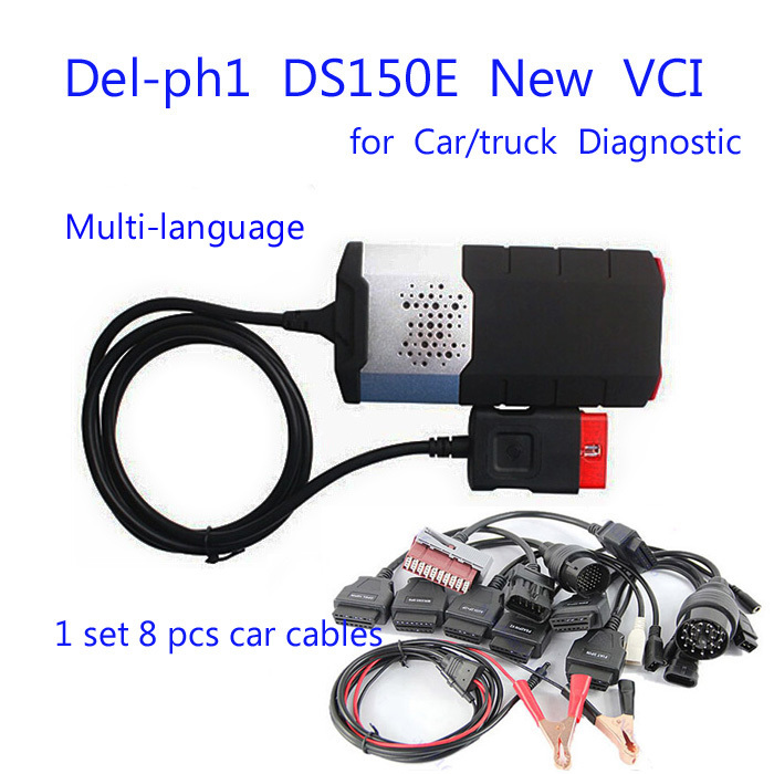 New Vci (2014R2+Keygen) TCS CDP Pro DS150E for Delphis Diagnostic tool for Autocom Cars/Trucks OBD2 Scanner+Full 8 car cables(China (Mainland))