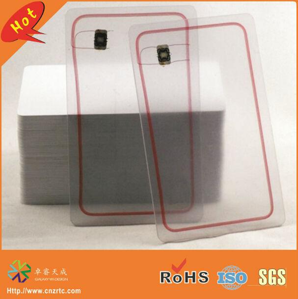 low frequency 125khz T5577/TK4100/EM4300 hard plastic clear transparent rfid card<br><br>Aliexpress