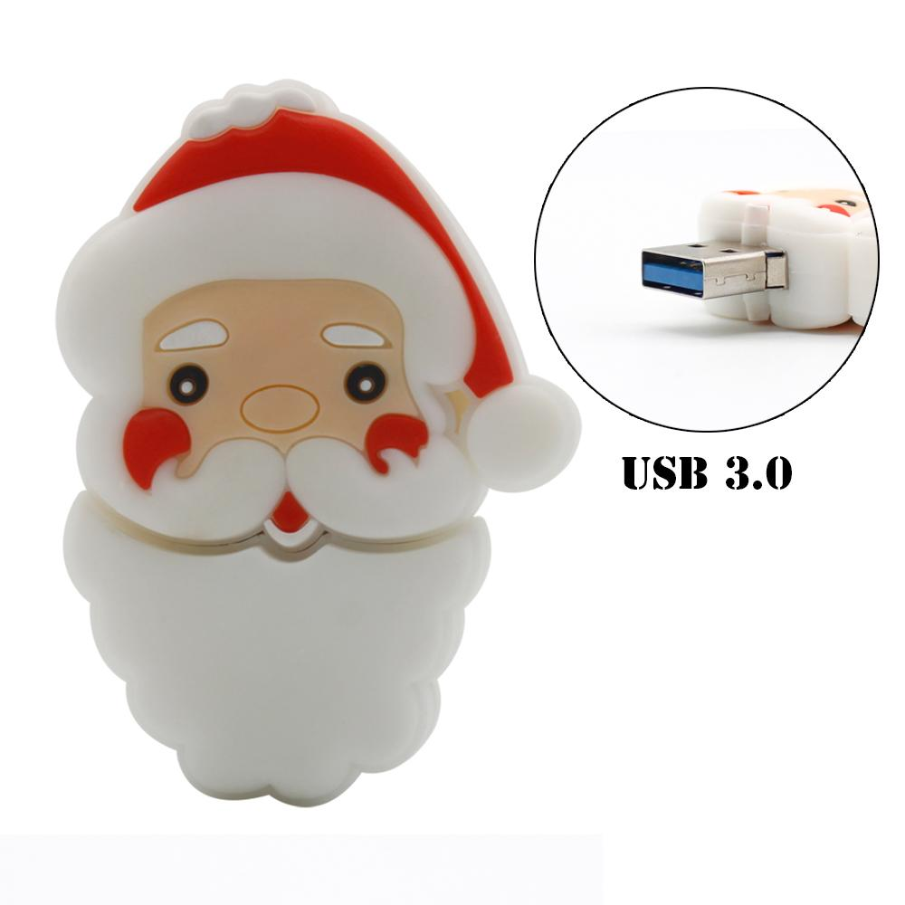 Santa Claus USB 3.0 USB Flash Drive Christmas Gift Pen Drive Cute Pendrive 16G 32G 64G flash Drive Freeshipping(China (Mainland))