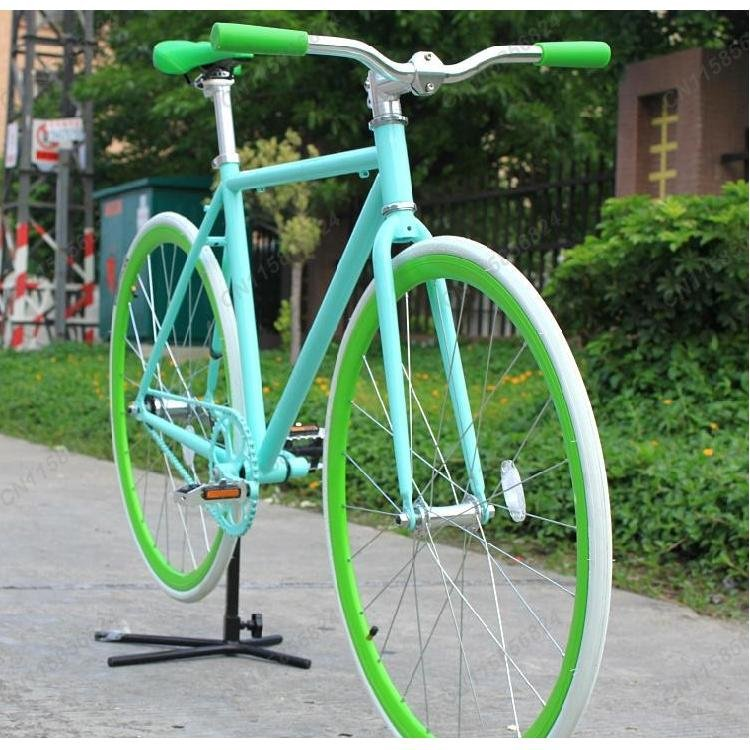 Blue Frame( 50cm) + 3-Type Rim & Tyre(700X23C) Single Speed Bike,FIXEE 2.0,Quality and Special Price !(China (Mainland))