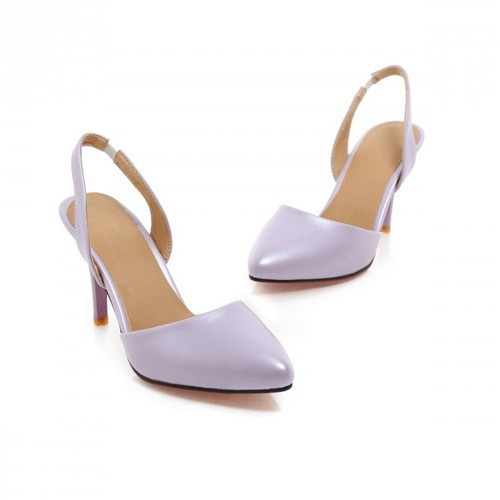 High Heels Sandals Women Sandals Pointed Toe Ankle Strap Stiletto High Heels Female Sexy Purple Shoes