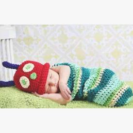 Полоса новорожденных фотография опоры hat + спальный мешок для новорожденный ребенок ручной пеленать меня