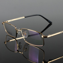 Alloy Frame Eyewear Fashion Male Optical Glasses Full Frame Ultra Light Optical Glasses Frame Men