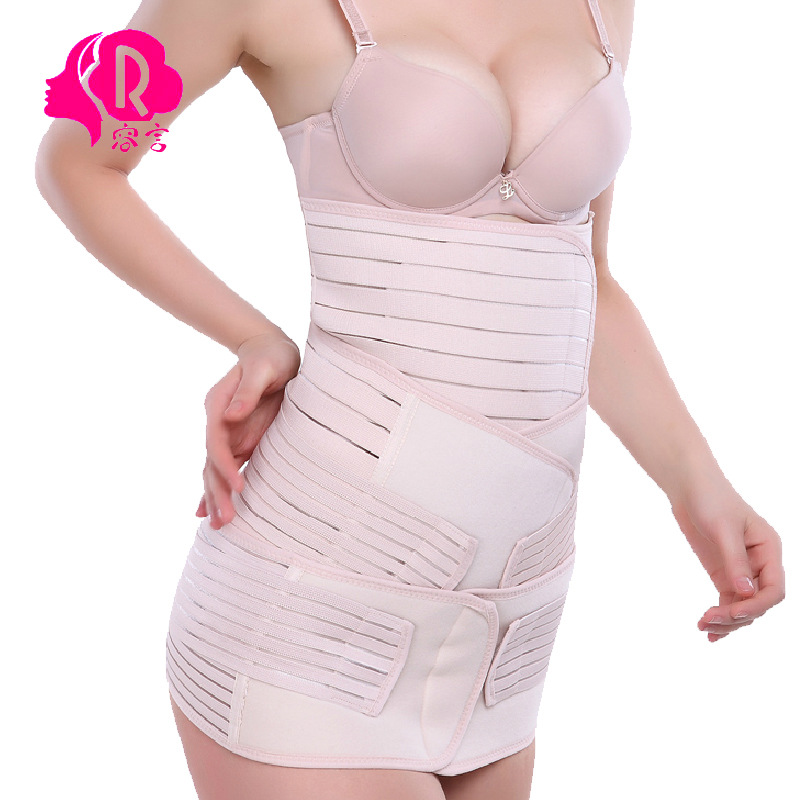 Postpartum abdomen with maternity girdles abdomen with closed gastric band pelvis belt three-piece maternity belly band <br><br>Aliexpress