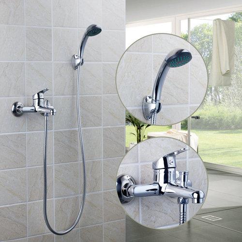 Badewanne Mit Dusche Ersetzen : Wall Mount Tub Faucet with Hand Shower