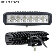 HELLO EOVO 2pcs 6 Inch 18W LED Work Light for Indicators Motorcycle Driving Offroad Boat Car Tractor Truck 4x4 SUV ATV 12V(China (Mainland))