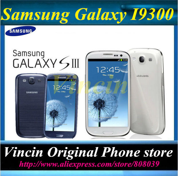 Original Unlocked Samsung Galaxy S3 i9300 Cell phone Quad Core 8MP Camera NFC 4.8'' Touch GPS Wifi GSM 3G Phone Refurbished(China (Mainland))