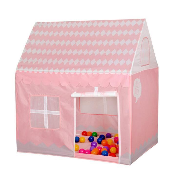 Girl Dream House Pink Toys Tent New Play House Girls Ball Pit Pool Kid Cute Castle For Outdoor Indoor Baby Tents Game(China (Mainland))