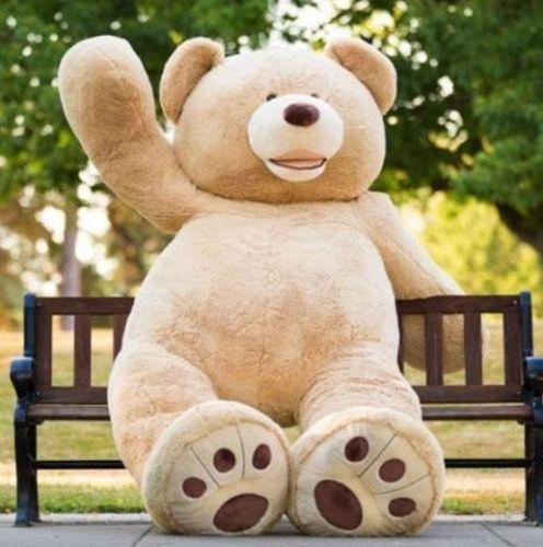 HUGE GIANT TEDDY BEAR 200CM HIGH QUALITY COTTON PLUSH LIFE SIZE STUFFED ANIMAL(China (Mainland))