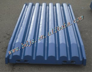 JAW PLATES OF mining machinery METSO jaw Icrusher wear parts of feed jaws(China (Mainland))