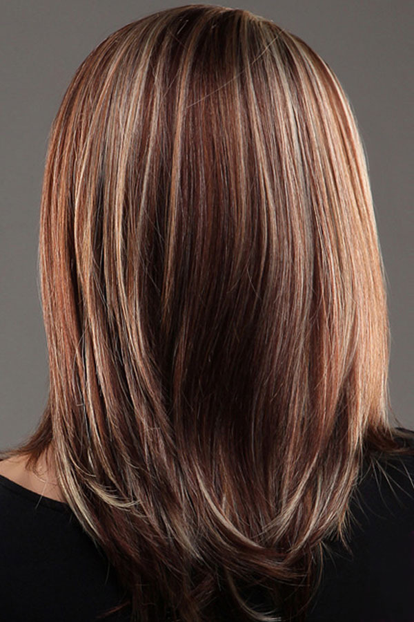 Medium length hairstyles with red highlights medium length gallery for gt medium length brown hair with highlights pmusecretfo Gallery