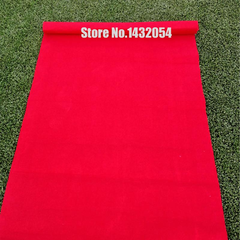 Red Wedding Party Carpet Runner Striped Halloween Deco Fiestas 100cmx5m Polyester Noeasy Tearing Mutiple Useful 23095(China (Mainland))