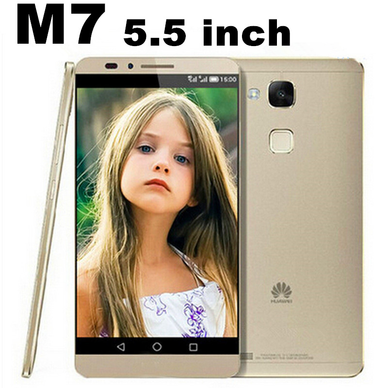 Free Ship Huawei phone M7 5.5 inch 2GB RAM 16GB ROM 1080*1920 MTK6592 Octa Core Andriod 4.4.2 Smart wake unlocked mobile phone(China (Mainland))
