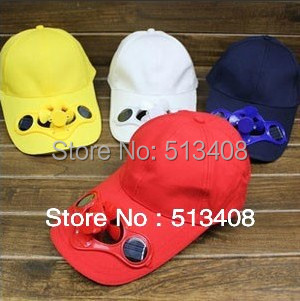 Multi-color Solar Power Hat Cap with Cooling Fan for Outdoor Golf Baseball Wholesale Polyester/Cotton Drop Dropshipping
