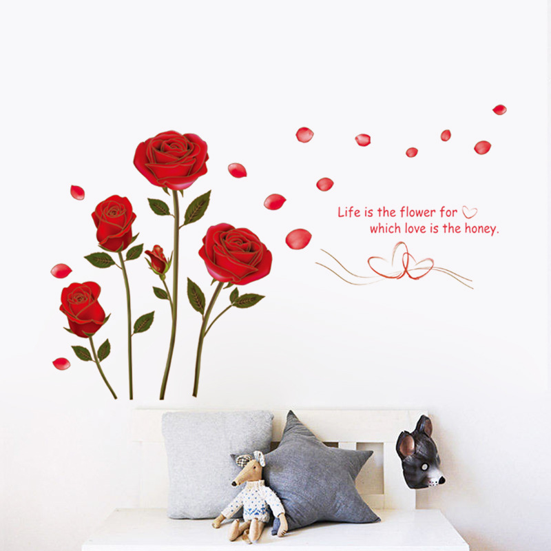 Romantic Rose Flowers Wall Art Bedroom Decorations 6005 Diy Print