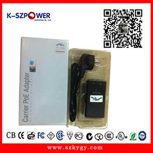 Free shipment 100pcs/ctn desktop AC DC 24V0.5A POE power supply for IP camera (P series)(China (Mainland))