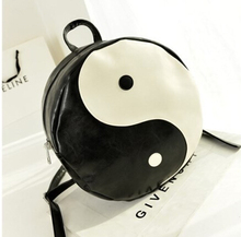 2014 new men and women of Japanese Harajuku street style Tai Chi Bagua map rivet shoulder bag backpack new wholesale