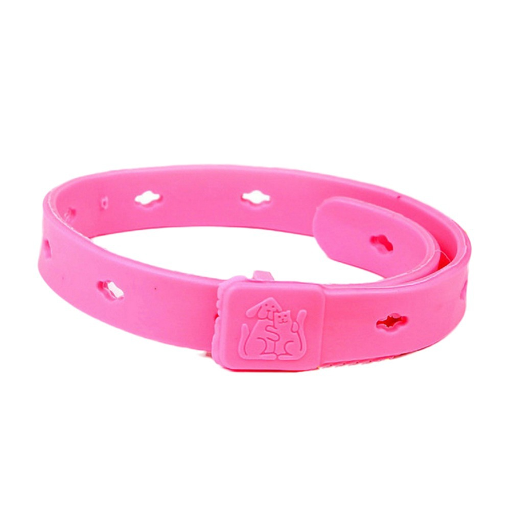 Rose Pink Dog Basic Collars Cat Adjustable Quick Release Plastic Leads Pet Suppliers 2015 New(China (Mainland))