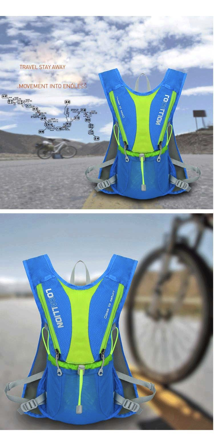 10L MTB Bike Bicycle Backpack Waterproof Bag Outdoor Sport Climbing Travel Pouch