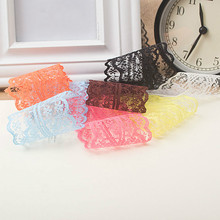 10yards/ lot 45MM Width lace ribbon DIY decorative lace trim fabric wedding birthday Christmas decorations(China (Mainland))