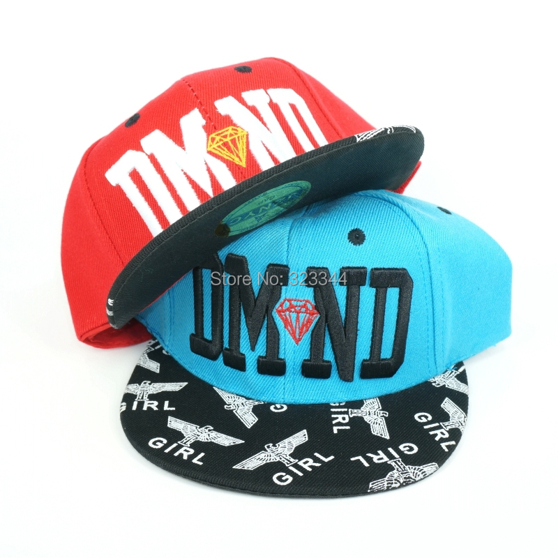 Kids Diamond DMND Snapback Hats Sport Hip Hop Caps Children Fashion Cusual Baseball Adjustable Mix Order - Laura Z's store