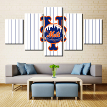 Buy 5 Panel New York Mets Sports Team Fans Oil Painting Canvas Modern Home Pictures Prints Liveing Room Deco Fans Posters Bedroom for $13.54 in AliExpress store