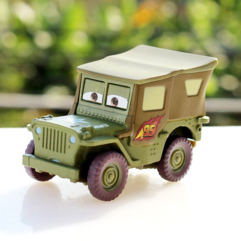 Free Shipping Brand New Pixar Cars 2 Toys 1:55 Scale Race Team Sarge Diecast Metal Car Toy In Stock(China (Mainland))