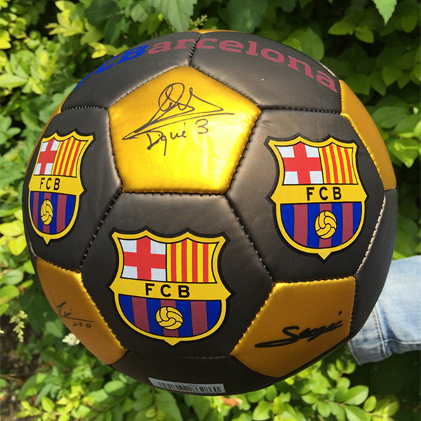 A+++ high quality La Liga Soccer ball PU size 5 souvenir edition soccers for match or training Free shipping(China (Mainland))