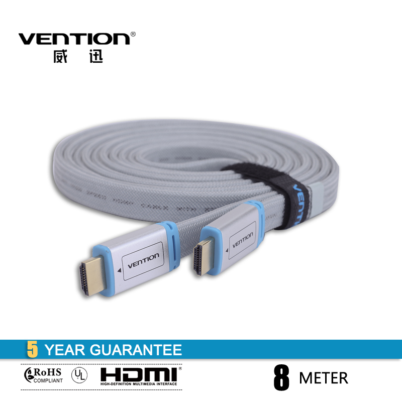 VENTION! GOLD TYPE High Speed HDMI Cable 1.4V 1080P HD Ethernet 3D Ready HDTV Ethernet 10.2Gbps 8M CABLE(China (Mainland))