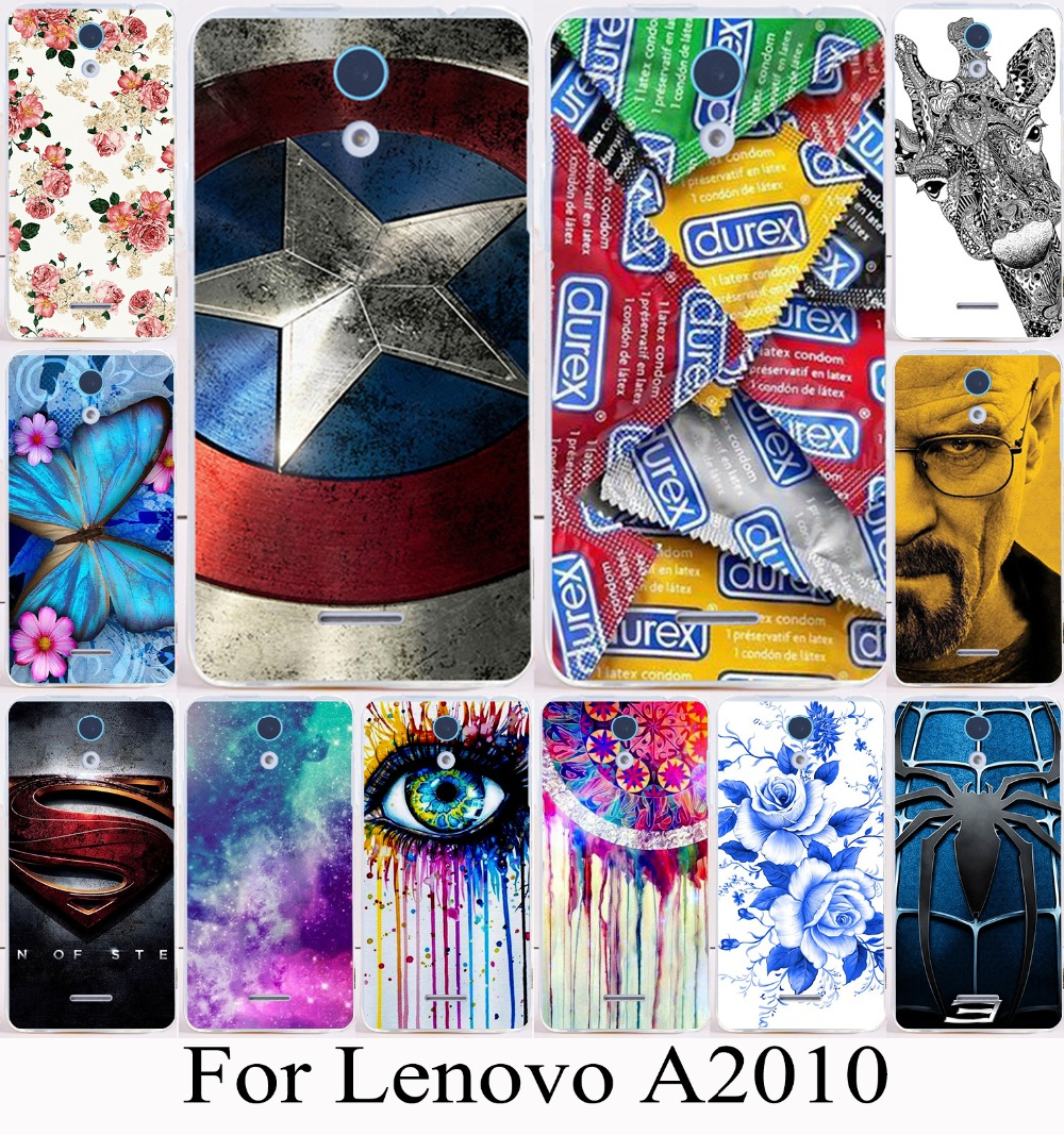 Soft TPU Hard Plastic Colorful Hard Plastic Painting mobilephone Cases For Lenovo A2010 A2580 A2860 4.5 inch a 2010 Cases covers(China (Mainland))