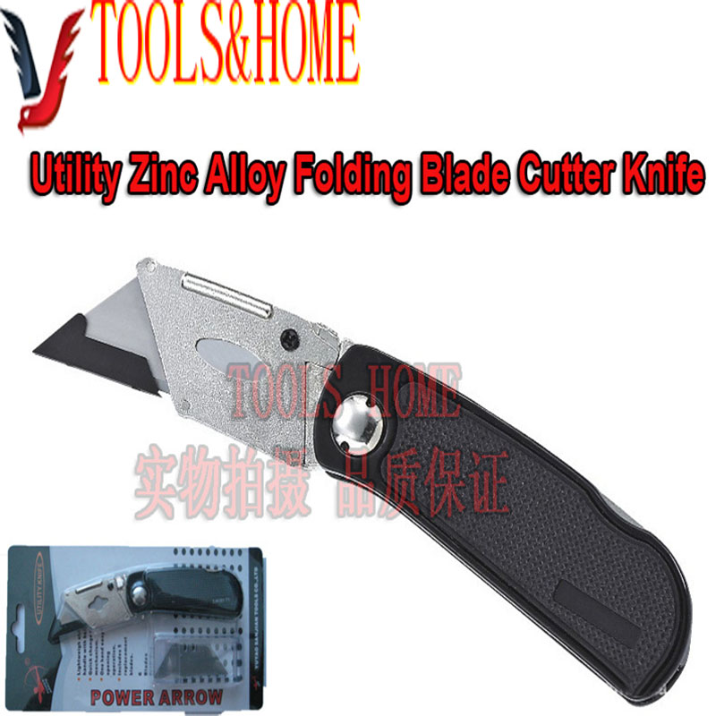 Free shipping!! Utility Zinc Alloy Folding Blade Cutter Knife,cutter for paper,stationery knife,folding utility knife