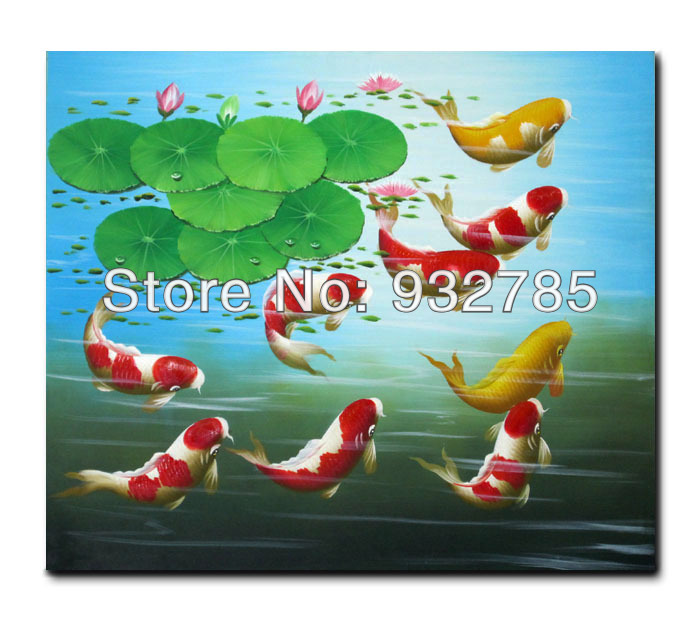 Image gallery koi oil painting for Koi for sale cheap