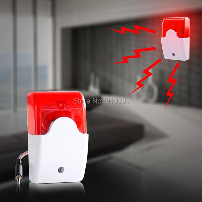 Гаджет  Free Shipping! Wired Flashing Light Strobe Siren For 99 Zones PSTN/GSM Wireless home security Alarm System None Безопасность и защита