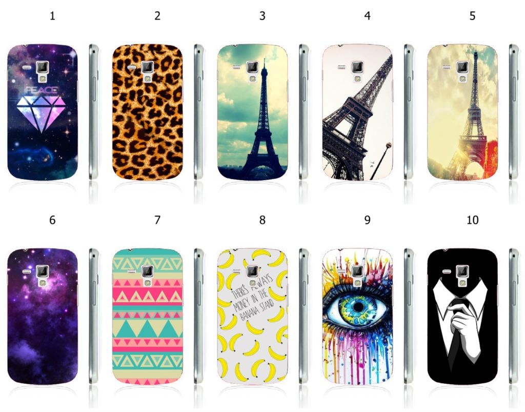 2015 hot selling beautiful sky stars hybrid peotecive white hard cases for S7562 GALAXY Trend Duos free shipping(China (Mainland))