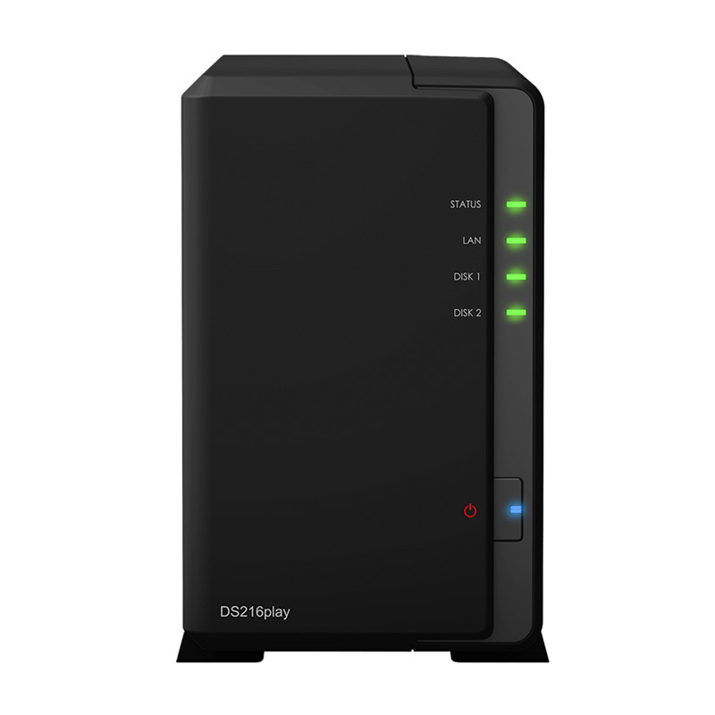 NAS Synology Disk Station DS216play 2-bay diskless nas server network storage, 2 years warranty