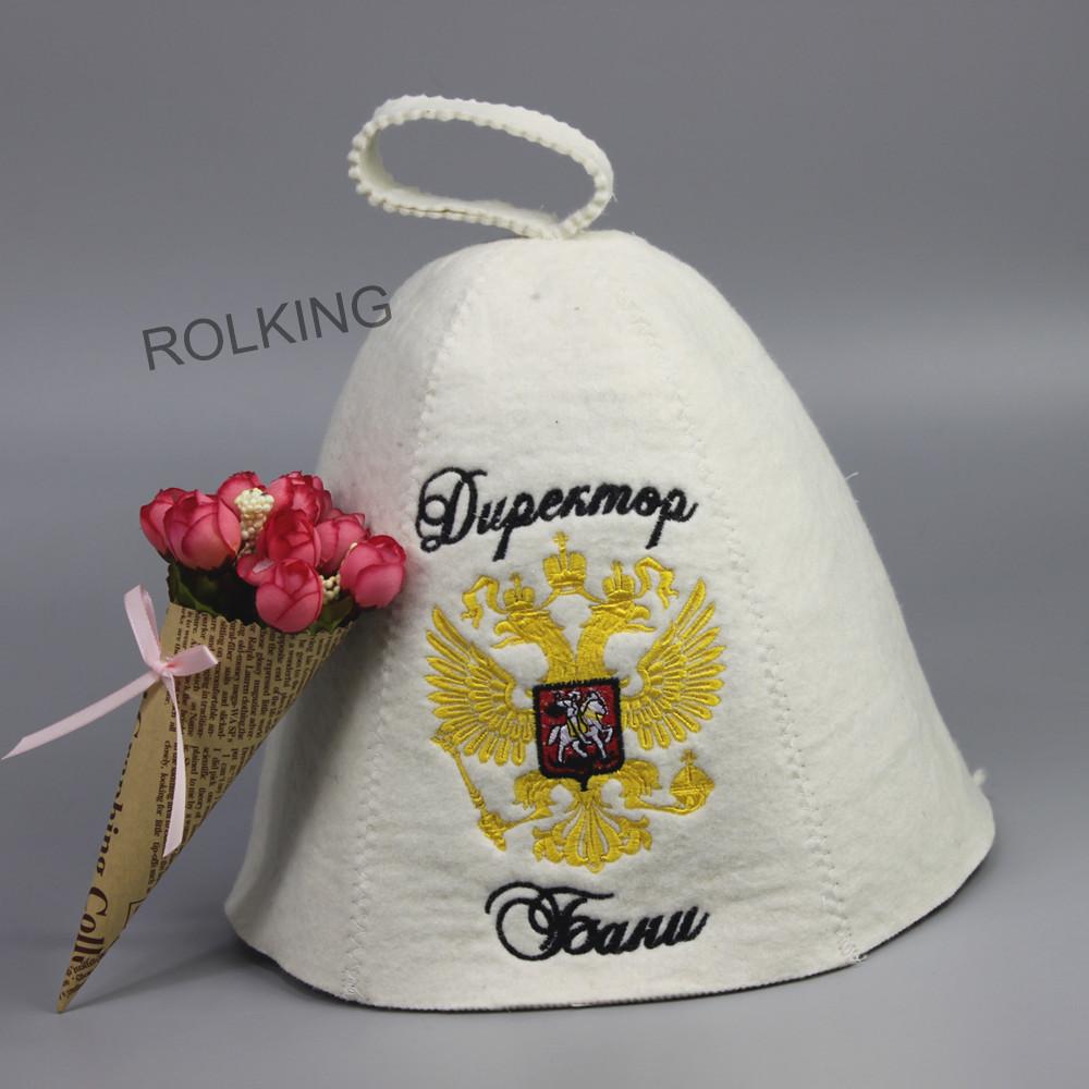 100% wool felt sauna bath banya hat(fast delivery 12days)(China (Mainland))