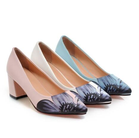 Free shipping 2016 New pointed toe fashion flower desing women pumps casual High quality ladies shoes high heel platform shoes<br><br>Aliexpress