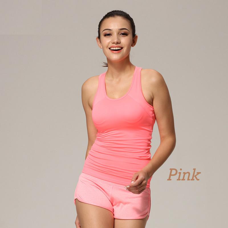 Ladys fitness quick dry sport shirt women sport top gym jogging vest , fitness yoga shirt running badminton top for women<br><br>Aliexpress