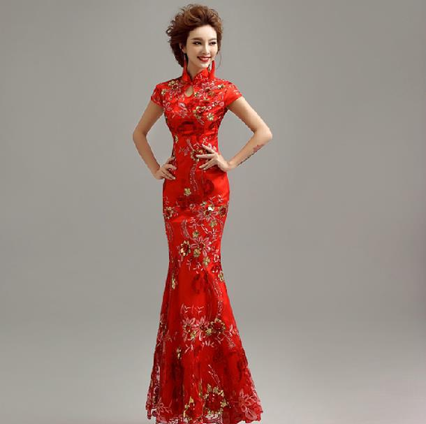 Traditional red chinese wedding dress dress blog edin for Traditional red chinese wedding dress