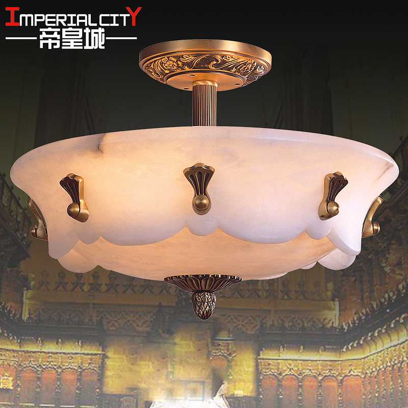 Spanish marble ceiling / European copper lamps / living room dining room bedroom / high end marble lamps 8052(China (Mainland))