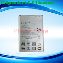 300pcs High Quality Rechargeable Mobile Phone Battery BL-51YF For LG G4 H810 VS999 F500 F500S F500K F500L H81 H818 H819 BL 51YF(China (Mainland))