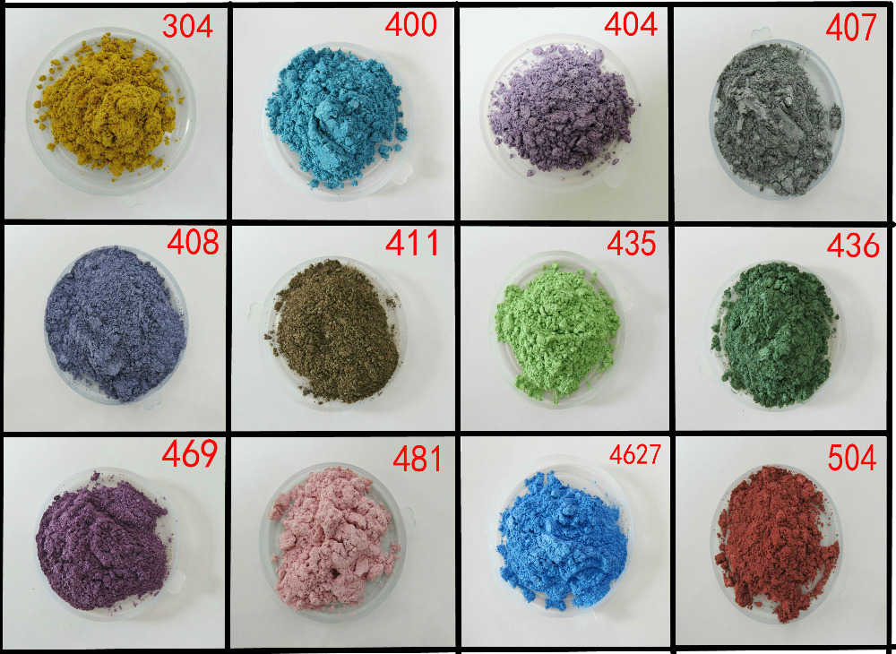 pearl pigment, pearlescent pigment,pearl powder,color:luster blue,apple green,pink,etc..1lot=12colors,20gram each,free shipping.(China (Mainland))