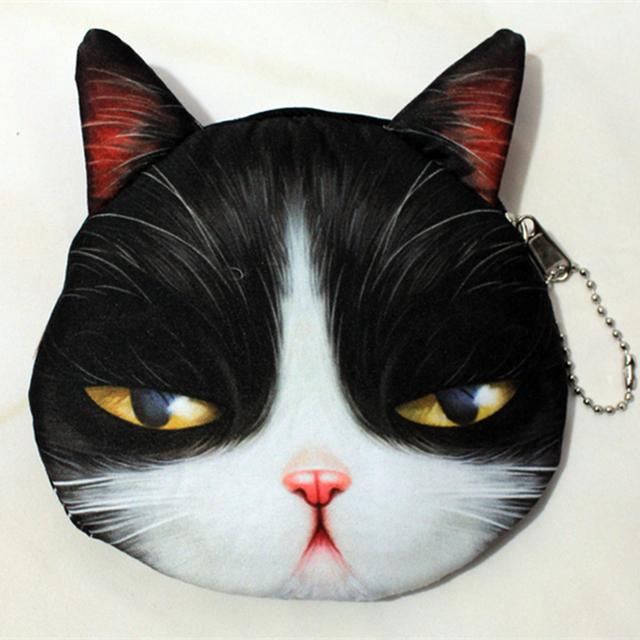 2016 новый кот портмоне милые дети мультфильм каваи сумка монет чехол кошелек держатель ...