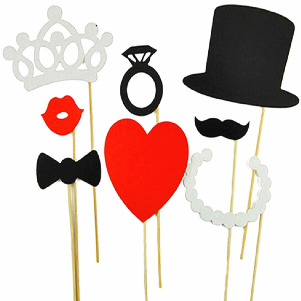 Photo Booth Props 8PCS wedding party decoration lips moustache bow tie wedding birthday christmas new year parties Photo Booth(China (Mainland))