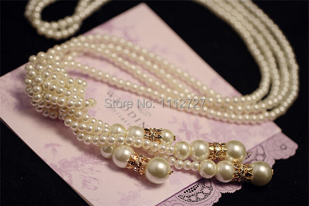 Korean High-grade Imitation Pearl Necklace Simple Multi Long Sweater Chain Female Chain Accessories Jewelry Wholesale Price(China (Mainland))