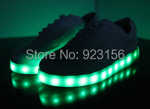 Free Shipping Brand Design LED sneakers Science Fiction Space luminous LED light shoes Genuine leather men or women sneakers(China (Mainland))