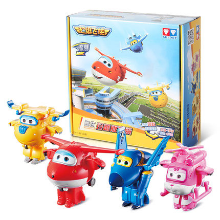 2016 Newest 4pcs/lot Super Wings toys Mini Planes 7cm Transformation Robot Action Figures toys baby toys for gifts(China (Mainland))