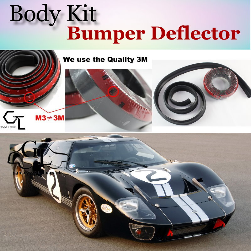 Bumper Lip Deflector Lips For Ford GT Front Spoiler Skirt For TopGear Fans Car View Tuning / Body Kit / Strip(China (Mainland))