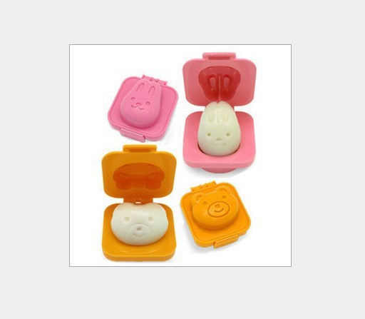 Min Order $15 Sushi Rice Mold Rabbit Bear Baking Mould Seaweed Cutter Bento plastic cake chocolate egg mold,2pcs/set(China (Mainland))