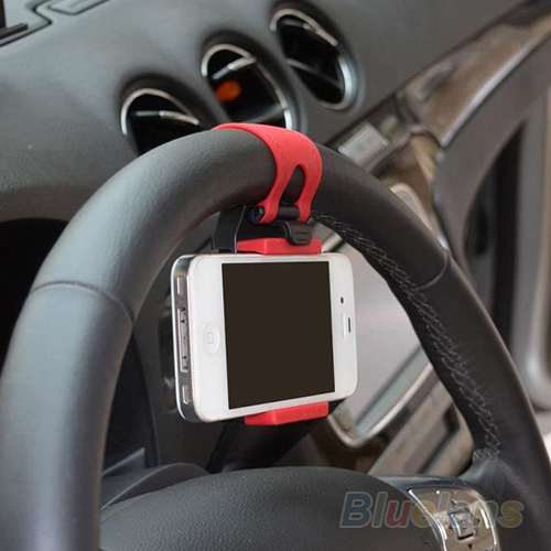 Car Steering Wheel Mount Holder Rubber Band For iPhone iPod MP4 GPS Mobile Phone Holders 01SZ(China (Mainland))